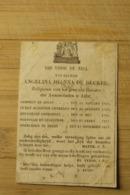 Aalst + 1851 Religieuse Annonciaten  De Decker - Religion &  Esoterik