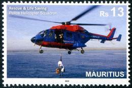 Mauritius (2019) - Set - /  Flugzeug - Helicopter - Police - Gendarmerie - Polizei - Helicopters