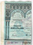 Titre Ancien - Crédit Foncier Egyptien - Egyptian Credit Foncier - Société Anonyme - Titre De 1882 - - Banque & Assurance