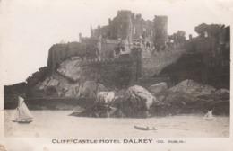 Postcard Cliff Castle Hotel Dalkey Co Dublin DAMAGED My Ref  B13719 - Dublin