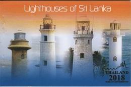 Sri Lanka (2018) - Prestige Booklet -  /  Expo Gold Overprint - Leuchtturm - Faro - Phares - Lighthouses - Phares