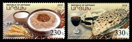 Armenia (Nagorno-Karabakh) 2018 Mih. 176/77 Gastronomy. National Cuisine MNH ** - Armenia