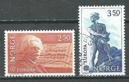 Norvège YT N°841/842 Europa 1983 Grandes Oeuvres Du Génie Humain Oblitéré ° - Europa-CEPT