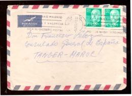 España. Sobre Sellado. Sello. Matasellos 1968. Barcelona. Tanger.  Publicidad. - 1931-Hoy: 2ª República - ... Juan Carlos I
