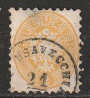 Autriche N° 27, Dent. 9 1/2 Oblitération USAVECCHIO ?? Voir Description - 1850-1918 Impero