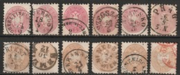 Autriche N° 28 Et 31, Diverses Oblitérations : Oberleiten, Szegszabo, Bransko, Munzkirchen, Triest, ... - 1850-1918 Imperium