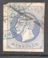 Hannover Konig Georg V  2 Groschen MiNr 15a  Gestempelt - Hanover