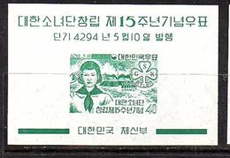 1961 Scouting Jamboree MNH Block (332) - Corée Du Sud