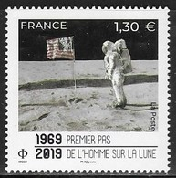 FRANCE, 2019, MNH, SPACE, MOON LANDING,  1v - Ruimtevaart