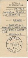 Wire Transfer Cash Coupons Through Postal Services - Bitola ( Macedonia ) 1965 - 1945-1992 République Fédérative Populaire De Yougoslavie