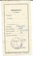 Reception Of Telegrams 1966 Belgrade - 1945-1992 République Fédérative Populaire De Yougoslavie