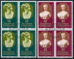 Zumstein 679-680 / Michel 741-742 Viererblockserie Mit ET-Zentrumstempel - Used Stamps