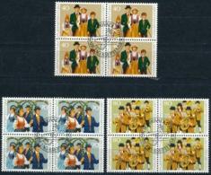 Zumstein 692-694 / Michel  754-756 Viererblockserie Mit ET-Zentrumstempel - Used Stamps