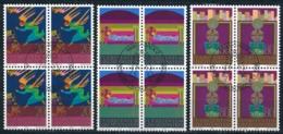 Zumstein 699-701 / Michel 761-763 Viererblockserie Mit ET-Zentrumstempel - Used Stamps