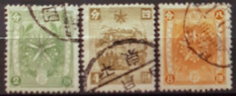MANCHUKUO 1936 - Canceled - Sc# 75, 76, 77 - 1932-45  Mandschurei (Mandschukuo)
