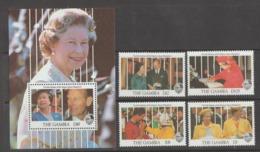GAMBIA  1991  **   MNH  YVERT  1019/22+S/S  110  VALOR   15.50 € - Gambia (1965-...)