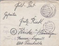 Feldpostbrief Mit Inhalt - Dahn Nach Weida - 1944 (44697) - Alemania