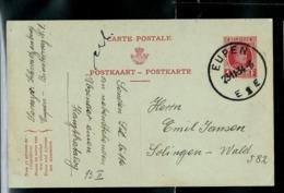 Carte Obl. N° 93. III. FNA.  Obl. EUPEN  E 1 E  Le 23/11/34 - Ganzsachen