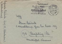 Feldpostbrief Mit Inhalt - Hof Nach Strassburg - Werbestempel Mitarbeit Bei Der Reichspost - 1944 (44699) - Briefe U. Dokumente