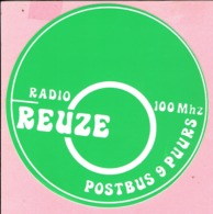 Sticker - RADIO REUZE - Postbus 9 PUURS - 100 Mhz - Aufkleber