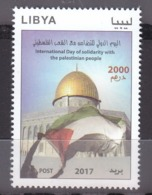 Stamps LIBYA 2017 International Day Of Solidarity With The Palestine Flag MNH */ - Libië