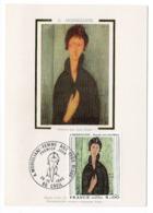 Carte Maximum 1980 - A. Modigliani - Femmes Aux Yeux Bleus - YT 2109 - 60 Creil - 1980-89