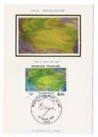 Carte Maximum 1984 - Jean Messagier - Les 4 Coins Du Ciel - YT 2300 - Paris - 1980-89