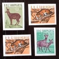 Albania 1962; Wild Animals & Fauna; Mammals; Scarce Imperf. Set; MNH, Neuf** Postfrisch; CV 140 Euro!! - Albanien