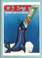 CPM Carte Publicitaire Jet Le Chewing - Gun à La Menthe Affiche De Jacques Auriac 1962 Bibliothèque Forney - Publicité