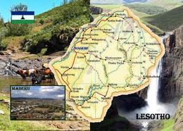 Lesotho Country Map New Postcard Landkarte AK - Lesotho