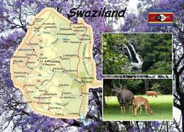 Swaziland Eswatini Country Map New Postcard Swasiland Landkarte AK - Swasiland