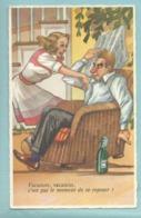 CPSM MD Série N° 035 Illustrateur Humour Sexiste Vacances..Vacances C'est Pas Le Moment De Se Reposer ! - Humour