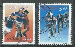 Norvège YT N°1086/1087 Championnats Du Monde Féminin De Handball Et De Cyclisme Oblitéré ° - Norvège