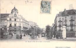 21 - DIJON : Rue De La Gare - Le Casino ( Hotel Morot - Pub Murale ABSINTHE ) CPA - Côte D'Or - Dijon