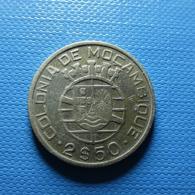 Portuguese Moçambique 2 1/2 Escudos 1950 Silver - Portugal