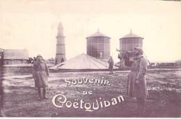MILITARIA ( Guerre 1914-18) Souvenir De COETQUIDAN (56) - CPA - Morbihan - Guerre 1914-18