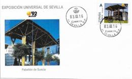 SPAIN. COVER EXPO'92 SEVILLA. SWEDEN PAVILION - 1931-Hoy: 2ª República - ... Juan Carlos I