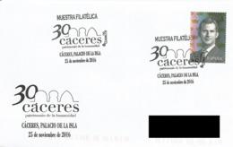 SPAIN. POSTMARK 30th ANNIV. CACERES WORLD HERITAGE. 2016 - España