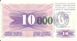 BOSNIE HERZEGOVINE 10000 DINARA 1993 UNC P 53 E - Bosnia Erzegovina
