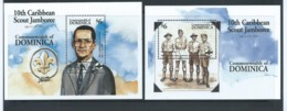 Dominica 1994 Boy Scout Jamboree Set Of 2 Miniature Sheets MNH - Dominica (1978-...)
