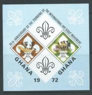 Ghana 1972 Boy Scout Anniversary Miniature Sheet MNH - Ghana (1957-...)