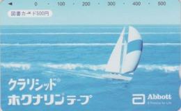 Carte Prépayée Japon - BATEAU VOILIER - SAILING SHIP ** ABBOTT ** - Japan Prepaid Tosho Card - SCHIFF - 143 - Boats