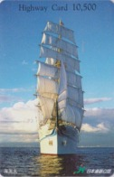 Carte Prépayée Japon - BATEAU VOILIER - SAILING SHIP Japan Prepaid Card - SCHIFF - HW 147 - Boats