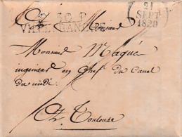 1829 - VILLEFRANCHE L.A.S.Ingénieur En Chef Du Canal De TOULOUSE à MAGNE Ing. En Chef. Du CANAL DU MIDI - Historische Documenten