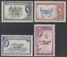 BRITISH HONDURAS    SCOTT NO. 163-66    MNH     YEAR  1962 - British Honduras (...-1970)