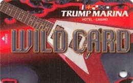 Trump Marina Casino Atlantic City NJ Slot Card - BLANK Without *sm For Copyright - Casino Cards