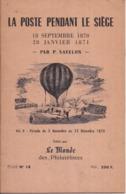 La Poste Pendant Le Siège, P. SAVELON (volume II) : Du 3 Novembre 1870 Au 22 Décembre 1870 - N° 129/400 - 28 P. - 1957 - Poste Aérienne & Histoire Postale