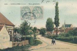 Coullons (45 - Loiret) Vue Générale - Voiture à Chien (petite) Coll. Marchand N° 638 Colorisée - France