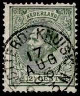 "NTH SC #26 U 1875 K William III W/SON ""ROTTERD:-KRUISK/17 AUG 83"" W/perf Flt @ UL CV $2.40 - Used Stamps"