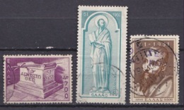 GREECE 1951 St. Pauls 1900 Anniversary Set To 2600 Dr. Vl. 657 - 658 - 659 - Oblitérés